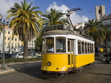 Tram in the Alfama District  Lisbon  Portugal  Europe
