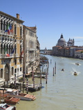 The Grand Canal and the Domed Santa Maria Della Salute  Venice  Veneto  Italy