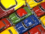 Rows of Colourful Model Traditional American Cars For Sale to Tourists  Old Havana  Cuba