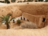 Troglodyte Pit Home  Berber Underground Dwellings  Matmata  Tunisia  North Africa  Africa