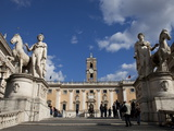 The Campidoglio  the Buildings House the City Hall and Capitoline Museums  Rome  Lazio  Italy