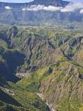 The Crater of Cilaos  La Reunion  Indian Ocean  Africa