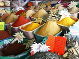Spices on Stall in Market of Souk Jara  Gabes  Tunisia  North Africa  Africa