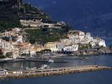 View of Amalfi  Amalfi Coast  Campania  Italy  Europe
