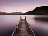 Jetty on Ullswater at Dawn  Glenridding Village  Lake District National Park  Cumbria  England  Uk