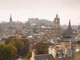 Edinburgh Cityscape From Calton Hill  Edinburgh  Scotland  Uk