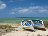 Fishing Boats on the Island of Rodrigues  Mauritius  Indian Ocean  Africa
