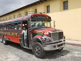 The Colorful Chicken Bus of Guatemala  Antigua  Guatemala  Central America