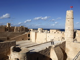 Ribat (Fortress) on Mediterranean Coast  Monastir  Tunisia  North Africa  Africa