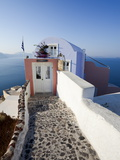 Entrance to a Typical Village House in Oia  Santorini (Thira)  Cyclades Islands  Greece