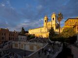 Trinita Dei Monti Church  Piazza Di Spagna  Spanish Steps  Rome  Italy  Europe