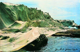 Wrapped Coast, c.1969 Reproduction pour collectionneurs par Christo