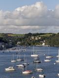 Fowey Harbour and Estuary  Cornwall  England  Uk