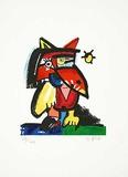 Katzenvogel mit Sonne