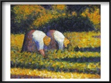 Seurat: Farm Women  C1882