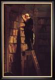 Le rat de bibliothèques Reproduction giclée encadrée par Carl Spitzweg