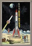Friction Moon Rocket Reproduction encadrée
