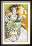 Noel 1903 Reproduction encadrée par Alphonse Mucha