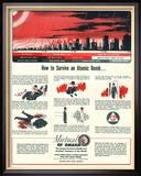 Humour Nuclear Atomic Bombs, USA, 1951 Reproduction encadrée