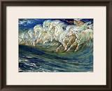 "Neptune's Horses  Illustration for ""The Greek Mythological Legend "" Published in London  1910"