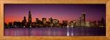 Dusk, Skyline, Chicago, Illinois, USA Photo encadrée par Panoramic Images