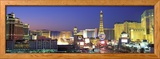 Dusk, the Strip, Las Vegas, Nevada, USA Photo encadrée
