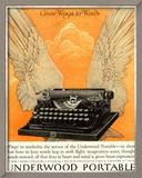 Underwood Portable Typewriters Equipment, USA, 1922 Reproduction encadrée