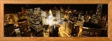 Ville endormie, rivière Chicago, Chicago, Illinois, Etats-Unis Photo encadrée