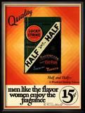 Lucky Strike, Cigarettes Smoking, USA, 1930 Reproduction encadrée