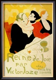 Reine de Joie Reproduction encadrée par Henri De Toulouse-Lautrec
