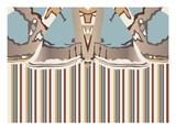 Neutral Blue Striped Ascension