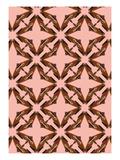 Pink Floral Moth Tiles