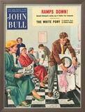 John Bull, Launderettes Washing Machines Appliances Magazine, UK, 1954 Reproduction encadrée