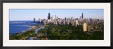 Aerial View of Skyline  Chicago  Illinois  USA