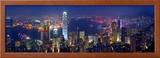 Victoria Harbour and Skyline from the Peak  Hong Kong  China