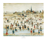 Au bord de mer Reproduction d'art par Laurence Stephen Lowry