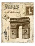 Paris Collage II  - Arc de Triomphe