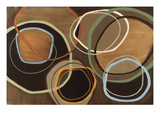 14 Friday I - Brown Circle Abstract