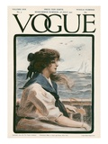 Vogue Cover - July 1907 Giclée premium par G. Howard Hilder