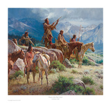 Prayers of the Pipe Carrier Reproduction d'art par Martin Grelle