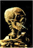 Vincent Van Gogh (Skull with Cigarette) Art Print Poster