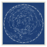 Stars and Constellations Chart Reproduction d'art