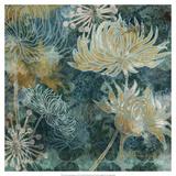 Navy Chrysanthemums I