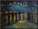 Nuit étoilée, Arles, 1888 Reproduction montée par Vincent Van Gogh