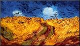 Le Champs de blé aux corbeaux, 1890 Reproduction montée par Vincent Van Gogh