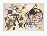 Trait transversal  Reproduction d'art par Wassily Kandinsky