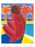 La Cote D'Azur c.1968 Reproduction d'art par Bernard Villemot