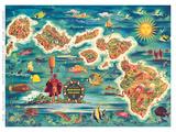 Dole Map of the Hawaiian Islands c1950