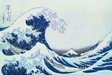La grande vague sur la côte de Kanagaua Reproduction d'art par Katsushika Hokusai