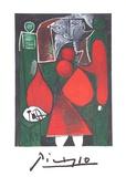 Femme en Rouge su Fauteuil